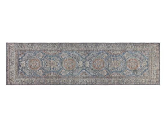 Alhertine Dijital Baskılı Halı - Mavi - 80x300 cm
