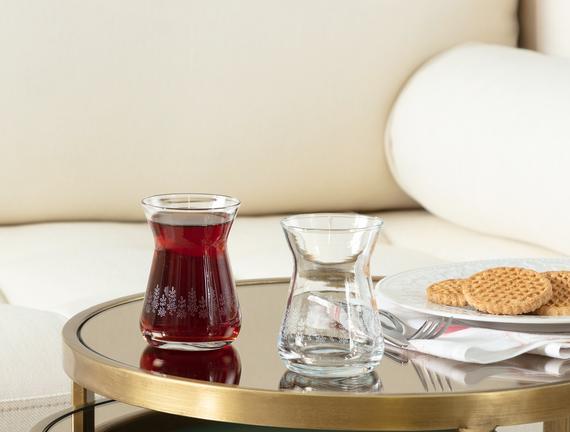 Francessa Daisy Touch 6'lı Çay Bardağı Seti 132 ml