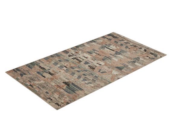 Adeline Halı - Pembe / Koyu Bej - 80x150 cm