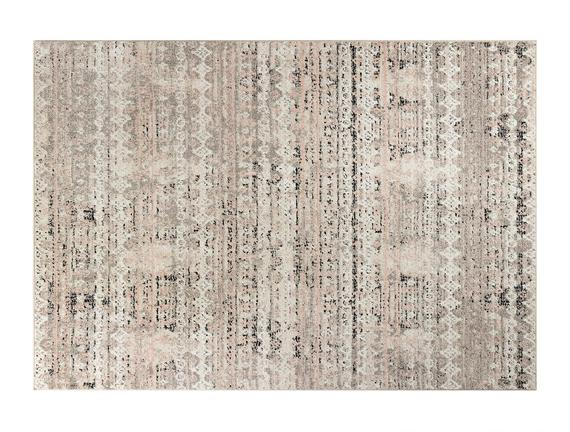 Brigitte Halı - Pembe / Koyu Bej - 160x230 cm