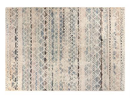 Abrial Halı - Mavi / Bej - 120x170 cm