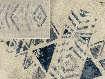 Filicia Halı - Lacivert / Açık Bej - 120x170 cm