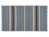 Delmare Saçaklı Dokuma Kilim - Mavi / Bej - 80x150 cm