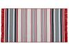Trinetta Saçaklı Dokuma Kilim - Kırmızı / Mavi - 80x150 cm