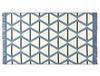 Aluin Saçaklı Dokuma Kilim - Mavi / Lacivert - 80x150 cm