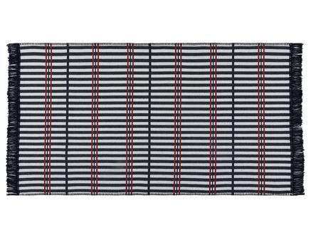 Aceline Saçaklı Dokuma Kilim - Lacivert / Bordo - 80x150 cm