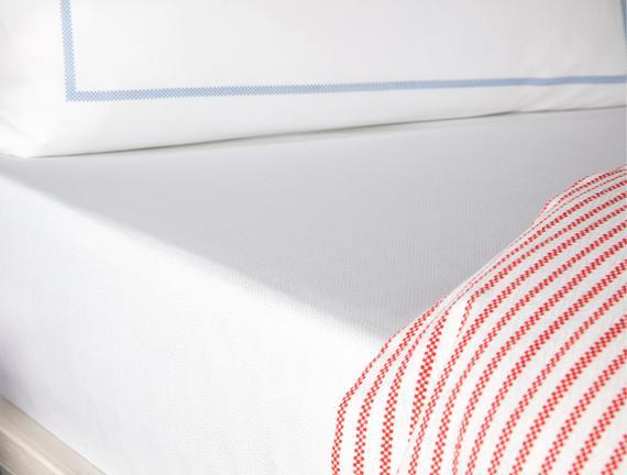 Boulon Çift Kişilik Baskılı Pike Takımı - Indigo / Kırmızı