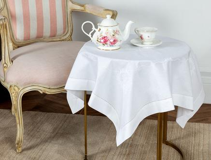 Masa Örtüsü - Beyaz - 85x85 cm