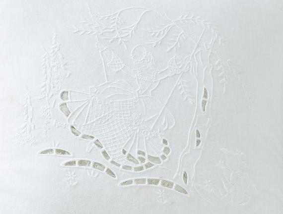 Kırlent Kılıfı - Beyaz - 40x40  cm