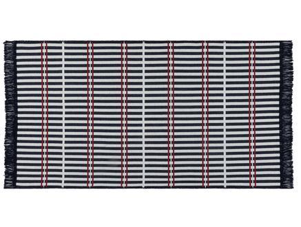 Aceline Saçaklı Dokuma Kilim - Lacivert / Bordo - 60x100 cm
