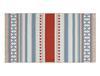 Afrodille Saçaklı Dokuma Kilim - Bej / Mavi - 60x100 cm