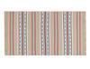 Lacene Saçaklı Dokuma Kilim - Bej / Mavi - 60x100 cm