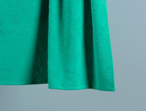 Ancelina Jakarlı Plaj Havlusu - Mint Yeşili - 75x100 cm