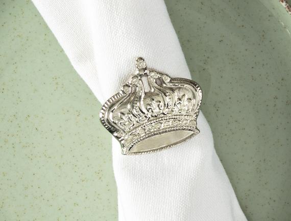 Crown 4'lü Peçete Halkası
