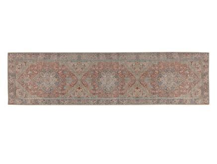 Curtice Dijital Baskılı Halı - Turuncu / Mavi - 80x300 cm