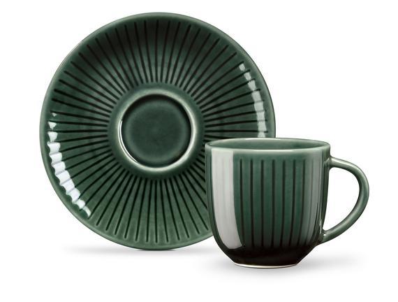 Kleberte 2'li Kahve Fincan Seti - Yeşil