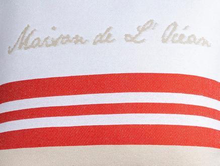 Chamonix Kırlent Kılıfı - Bej / Kırmızı - 45x45 cm