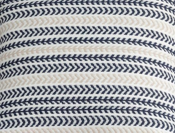 Curtice Kırlent Kılıfı - Bej / Lacivert - 45x45 cm