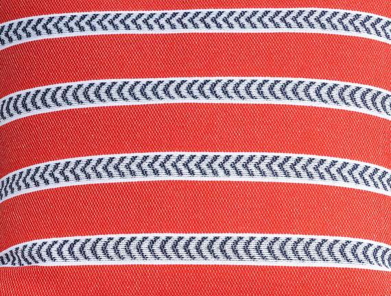 Chaunte Kırlent Kılıfı - Kırmızı / Lacivert - 45x45 cm