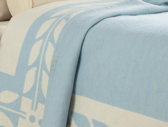 Marita Tek Kişilik Dokuma Battaniye - Açık Mavi