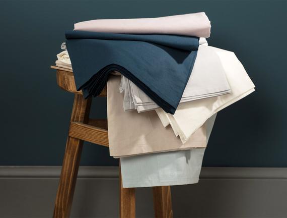 Eloise Ranforce King Size Plus Lastikli Çarşaf - Mavi