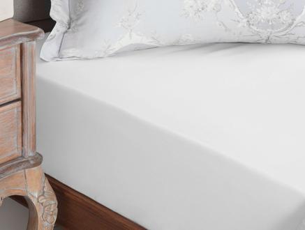 Eloise Ranforce Tek Kişilik Plus Lastikli Çarşaf - Beyaz