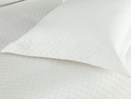 Aida Çift Kişilik Yatak Örtüsü - Beyaz