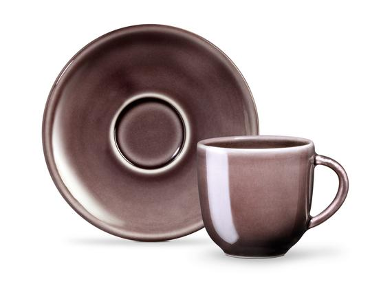 Morane 2'li Kahve Fincan Seti - Mürdüm