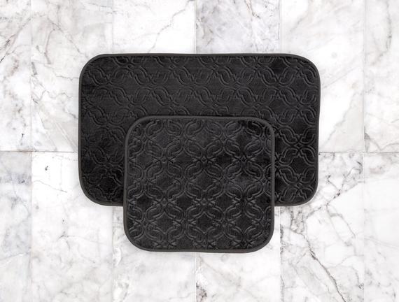 Prunella 2'li Banyo Paspası - Antrasit - 50x80 + 45x50 cm