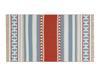 Afrodille Saçaklı Dokuma Kilim - Bej / Mavi - 80x150 cm