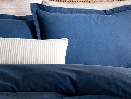Bonierre Çift Kişilik Denim Nevresim Seti - Mavi