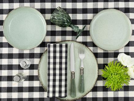 Clara 6 Parça Yemek Takımı - Yeşil