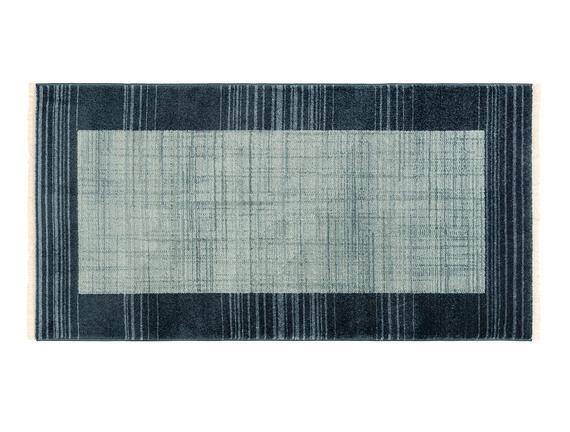 Orient Delphine Halı - Açık Mavi / Koyu Mavi - 76x150 cm