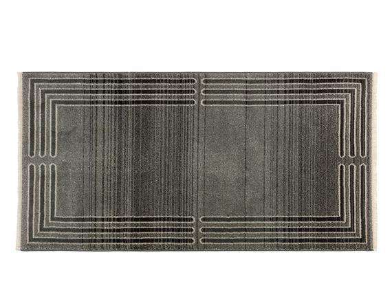 Orient Elodie Halı - Açık Gri / Koyu Gri - 76x150 cm