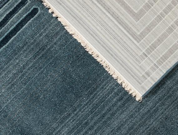 Orient Elodie Halı - Açık Mavi / Koyu Mavi - 160x225 cm