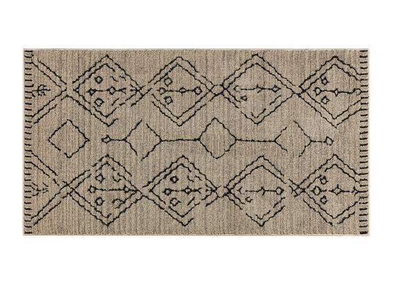 Ryella Halı - Bej / Antrasit - 80x150 cm