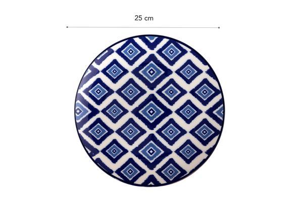Rêve Bleu Élégant Servis Tabağı - 25cm