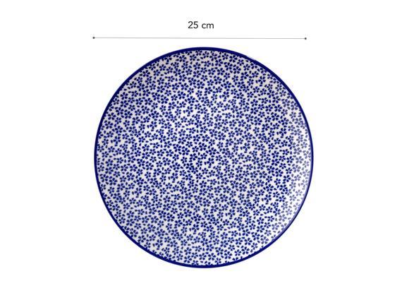 Rêve Bleu Ensoleillé Servis Tabağı - 25cm