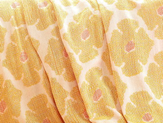 Amelie Koltuk Şalı - Sarı / Pembe - 150x150 cm