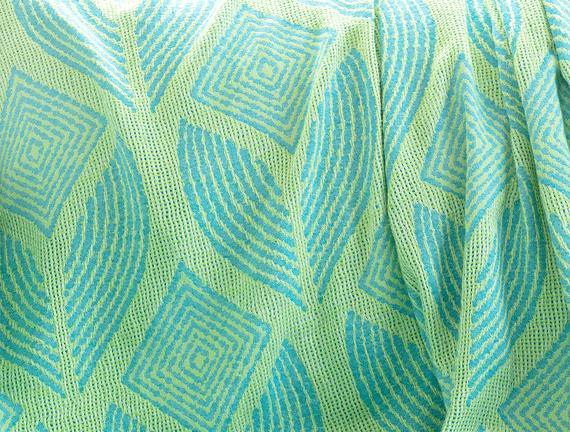 Cateline Koltuk Şalı - Mavi / Yeşil - 150x150 cm