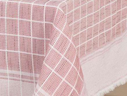 Mita Flamlı Masa Örtüsü - Kırmızı - 160x230 cm