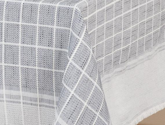 Mita Flamlı Masa Örtüsü - Lacivert - 160x300 cm