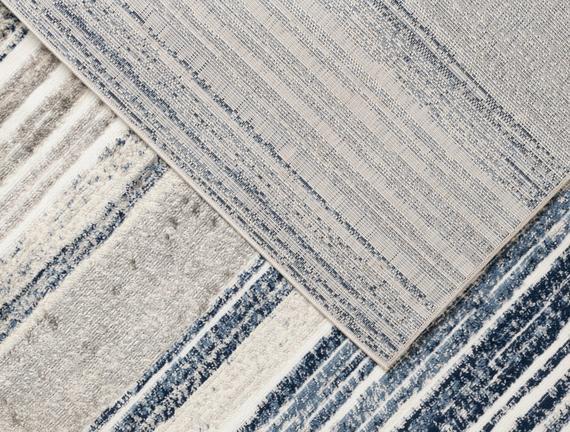 Odline Halı - Krem / Indigo - 80x150 cm