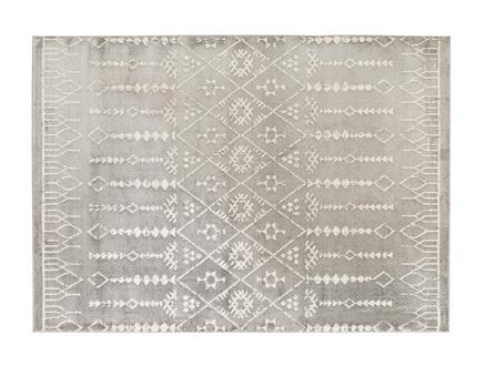 Bernelle Halı - Açık Gri / Koyu Gri - 160x230 cm