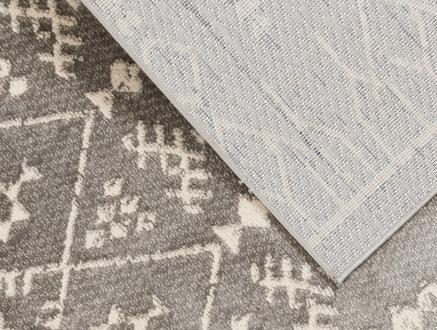 Bernelle Halı - Açık Gri / Koyu Gri - 80x150 cm
