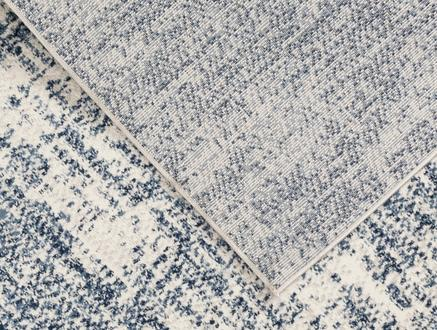 Belda Halı - Lacivert / Beyaz - 120x170 cm