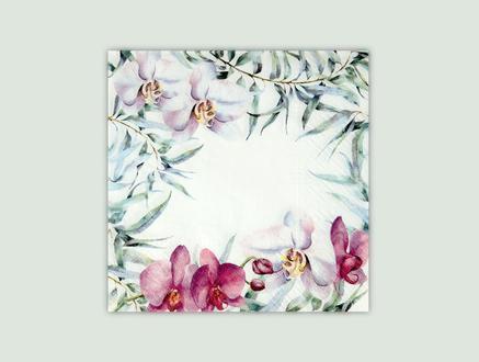 Orkide Rüyası Desenli Peçete - Kare