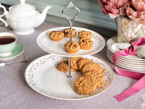 Clarice İki Katlı Kek Standı