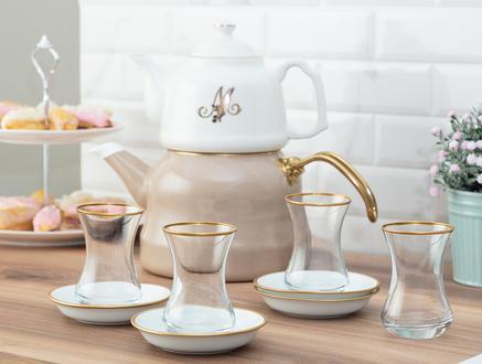 Yolande 8'li Çay Seti - Ağız Gold