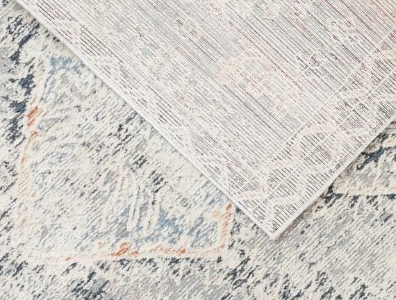 Clarette Halı - Açık Gri / Koyu Gri - 160x230 cm